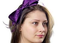 Purple Accents and Accessories / From stylish hats to the perfect purple sunglasses and scarf combo. A trendy tie for him, or a fashionable set of gloves for her.
