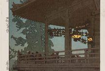 J❥p❥n Through Art / #estampe #art #painting #japon #japan #japanese #ukiyoe #woodblock #woodblockprint #cliftonkarhu #hokusai #hiroshige #hirosige #japanart #traditionalJapan #japaneseart #浮世絵 #北斎 #広重 #アート #ukiyo-e #cherryblossoms #moon #seasons