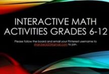 Interactive Math Activities (Grades 6-12) / This board is for ideas and activities that can be used with Math Interactive Notebooks in the Middle School or High School Classroom.