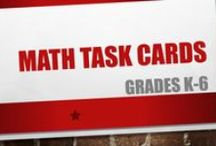 Math Task Cards Grades K-6 / This collaborative board for Grades K-6 will collect task card sets which can be used for math learning centers, individual student practice, or in a game setting in the classroom.