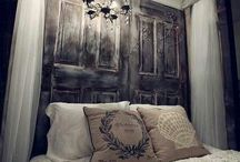 Door Headboard / Upcycled doors as headboards / by Michelle Mulvehill