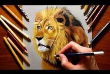 Speed drawings / Time-lapsed videos of drawing processes