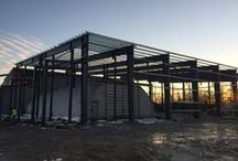 Steel Buildings / A gallery of buildings we've constructed from progress to project completion. See more at Steelsmithinc.com.