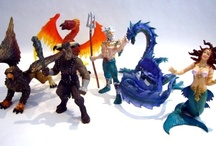 Dragons, Fairies & Mythical Creatures / A collection of our favorite dragons, fairies and mythical creatures! See our collection of fantasy figurines at http://www.thejunglestore.com/Gift-Catalog/figurines