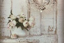 """whimwham- odd and fanciful / the definition of a whimwham is """"any odd or fanciful object or thing"""" This is really my kind of shabby chic. I love Junktiques. Farmhouse style and great patina. Lots of chipped white paint. / by Laurel T. Colins"""