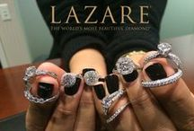 On Wednesdays We Wear Diamonds. / Testing out the Lazare jewelry collection at the office.