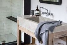 nesting. bathroom / A collection of both minimalist modern and simple rustic bathroom design and decor. for inspiration