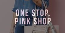 One Stop, Pink Shop / Shop for a cure! A portion of every Pink Shop purchase is donated to breast cancer research organization. Let's charge against breast cancer together and fight for a cure.