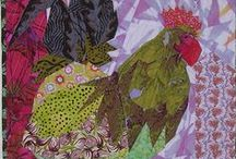 Quilting Rooster Paper Piecing or Appliqué