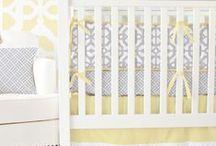Gray & Yellow Nursery Ideas / Gray and Yellow is a perfect color combo for gender neutral nurseries. Caden Lane has a ton of great bedding sets for parents that choose to not find out the babies gender.