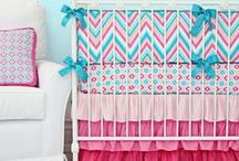 Chevron Nursery / #Chevron is so perfect for a #Nursery Visit cadenlane.com for tons of #chevronnursery bedding and decor!