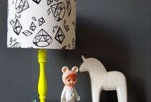 handmade fabric lampshades by love frankie / Handmade lampshades by the lovefrankie.com team using sourced fabrics from around the globe.