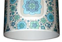 vintage wallpaper lampshades / Handmade lampshades made with gorgeous limited edition fabrics and wallpapers from around the globe.