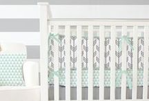 Gender Neutral Nursery Ideas / Find great gender neutral nursery ideas for your soon to be little one right here. These baby bedding designs and nursery decor will work great for a baby boy's or baby girl's nursery! Find more gender neutral crib sets like these at CadenLane.com