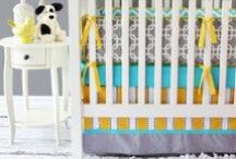 Gray Nursery Ideas / We love the color gray in the nursery! So much so, that we've even designed some exclusive Caden Lane crib bedding in the color. Gray is such a versatile color that there's really no going wrong, but to help get you focused here are some of our favorite finds...