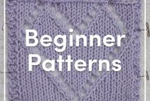Knitting Patterns for Beginners / A great selection of quick and easy knitting patterns for beginners! Learn how to knit with these simple projects, and find some extra help with how-to tutorials on our LoveKnitting website.