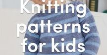Knitting Patterns for Kids / Projects for your kids or gifts for others, all of your favorite knitting patterns for the little ones are right here! Find comfy and cute knitted sweaters, vests, and more that are perfect for kids!