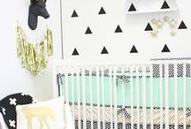Black & White Nursery / Keep it simple with a #blackandwhite #nursery @CadenLane