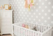 Polka Dot Nursery Ideas / What's not to love about polka dots? They're fun, whimsical, and just gosh darn cute in the nursery!  Find some inspiration for incorporating some polka dots in your own nursery.