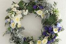 FLOWER front wreaths - wianki na drzwi