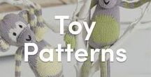 Toy Knitting Patterns / The perfect toy pattern picks to keep your little ones happy! Easy to make or a fun challenge, find amazingly cute knitted stuffed animals from bears to monkeys, and more!