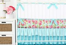 Aqua Floral Nursery Inspiration / Aqua and floral is the perfect combination for a sweet and girly nursery that's not overly pink.  Here you'll find all the inspiration you need to create the aqua floral nursery of your dreams!