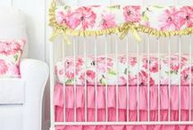 Pink Floral Nursery Inspiration / There is nothing more sweet and elegant then a Pink Floral Nursery! We can't get enough of this combo. The Pink Floral trend is a classic!