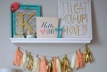 Baby Girl Nursery Ideas / Get ready to plan your precious baby girl's nursery! Eeek! We have soo many ideas for baby girl's that we know deciding how to decorate the nursery is going to be difficult, but we hope this board will be a useful place for you to find some inspiring nursery ideas.