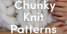 Chunky Knit Patterns / We can't get enough of chunky knits - the perfect project to keep you nice and cozy over the winter! From blankets to scarves, find here the perfect knitting patterns for both beginners and advanced knitters!