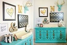 Changing Table Ideas / Everything you need to know about setting up your changing table in the nursery and making it stylish.