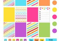 Printable Planner Stickers & Planner Accessories / Printable planner stickers and accessories to pretty up your planner.  Most of these printables are free!