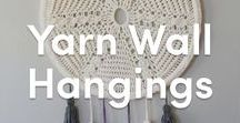 Yarn Wall Hangings / DIY tutorials and inspiration for yarn wall hangings! Crochet, weave, and even knit wall decorations to add a statement to any room!