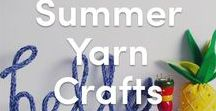 DIY Summer Crafts / There's no better way to celebrate summer than making some fun, cool and colorful things with your friends! Check out our favorite summer makes and inspiration for yarn crafts galore!
