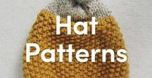 Knitted Hat Patterns / Do you love hand-knitting your accessories? Find inspiration for your next knitting project with these stylish hat patterns for kids and adults, plus all of the materials you need! Hats are great projects whether you're a beginner or an expert knitter.