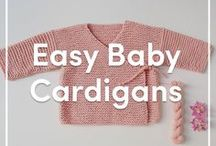 Easy Baby Cardigan Knitting Patterns / Cast on today and make these easy baby cardigans! These knitting patterns are cute and simple, so you can knit up a different cardigan in every shade. If you're a beginner knitter, these simple knits are the perfect project!