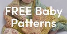 FREE Baby Knitting Patterns / This board is full of amazing FREE pattern ideas for babies. From blankets to hats to booties to toys, find the best free knitting patterns for your little one.