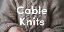 Beautiful Cable Knits / Discover gorgeous knitting patterns featuring cables! Chunky, intricate, twisted or easy ones for beginners - we have them all available to download on LoveKnitting!