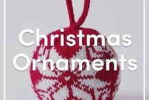Knitted Christmas Ornament Patterns / Knitting patterns for Christmas ornaments - decorate your home and knit yourself some festive cheer! From round ornaments to stockings, we've got you covered!