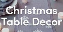 Christmas Table Decor Knitting Patterns / Find inspiration for knitting patterns to decorate your table over the Christmas holidays. Reindeer tea cozies, holiday table runners, and more!