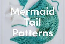 Mermaid Tail Knitting Patterns & Projects / A range of knitting and crochet patterns to make your own mermaid blanket!