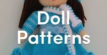 Knitted Doll Patterns / Discover our lovely knitting patterns for cute dolls! The perfect toys for little girls - A gift for daughers, granddaughters, or anyone who loves a cute little knit friend!