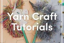 Yarn Craft Tutorials / From DIY knitting accessories to personal handmade gifts, scroll through inspiring how to's for your next project in this collection of craft tutorials! These quick and easy crafts will utilize extra yarn to make pom poms, weaved decor, and beyond!