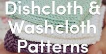 Dishcloth and Washcloth Knitting Patterns / Try out a new stitch with a variety of dishcloth and washcloth knitting patterns! Learn how to moss stitch, how to seed stitch, or just stick with your classic knit and purl stitches to make a bunch of cute and practical decor items for the home.