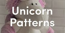 Unicorn Knitting Patterns / The dream place for all unicorn fans! From toys to children's accessories, find the magical knitting pattern that makes the perfect unicorn for you!