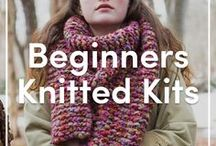 Knitting Kits for Beginners / Not sure where to start as a beginner knitter? Our selection of knitting kits is the best place to find inspiration and everything you need to start your first project! Go from just learning how to knit to becoming a pro knitter in no time!