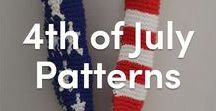4th of July Knitting Patterns / Knitting patterns for the 4th of July! Celebrate Independence Day with these knitting patterns for stars and stripes hats, cowls, and decorations. Find the red, white, and blue knitting patterns at LoveKnitting.
