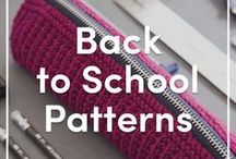 Back to School Knitting Patterns / A selection of FREE and paid knitting patterns for school - including knitting patterns for children's sweaters, patterns for bags and cases. Cast on a project for the summer and be ready for the kids to go back to school! Find more knitting patterns and yarns at LoveKnitting.