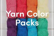 Knitting Yarn Color Packs / Discover our Color Packs of knitting yarns. Get some color inspiration for your next knitting project with our handy color packs - perfect for blankets and shawls, each one has a different palette. Find more color packs at LoveKnitting.