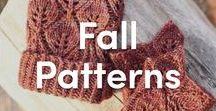 Fall Knitting Patterns / Knitting patterns perfect for fall! Sweaters, cardigans, scarves, and hats- never get tired of these knits perfect for layering during the changing season.
