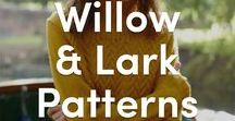 Willow & Lark Knitting Patterns / Discover Willow & Lark's celebration of beautifully British design with this selection of patterns inspired by countryside walks through the woodland and blustery winter days. Willow & Lark's yarns and patterns will carry you through the seasons, cup of tea at hand and knitting away rain or shine.